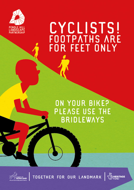 Cycling - Footpaths are for feet only