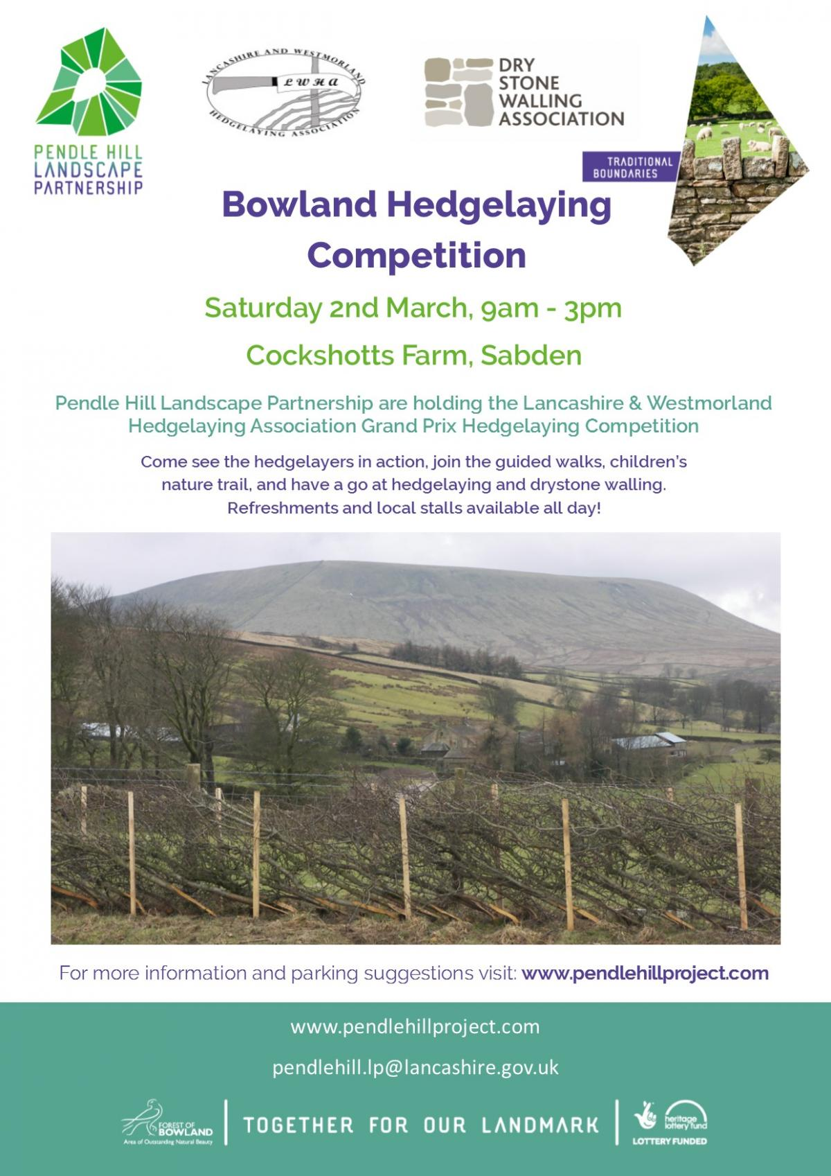 Bowland Hedgelaying Competition Event Poster