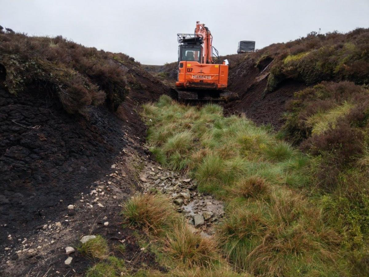 Peat restoration work being carried out by ConserveFor