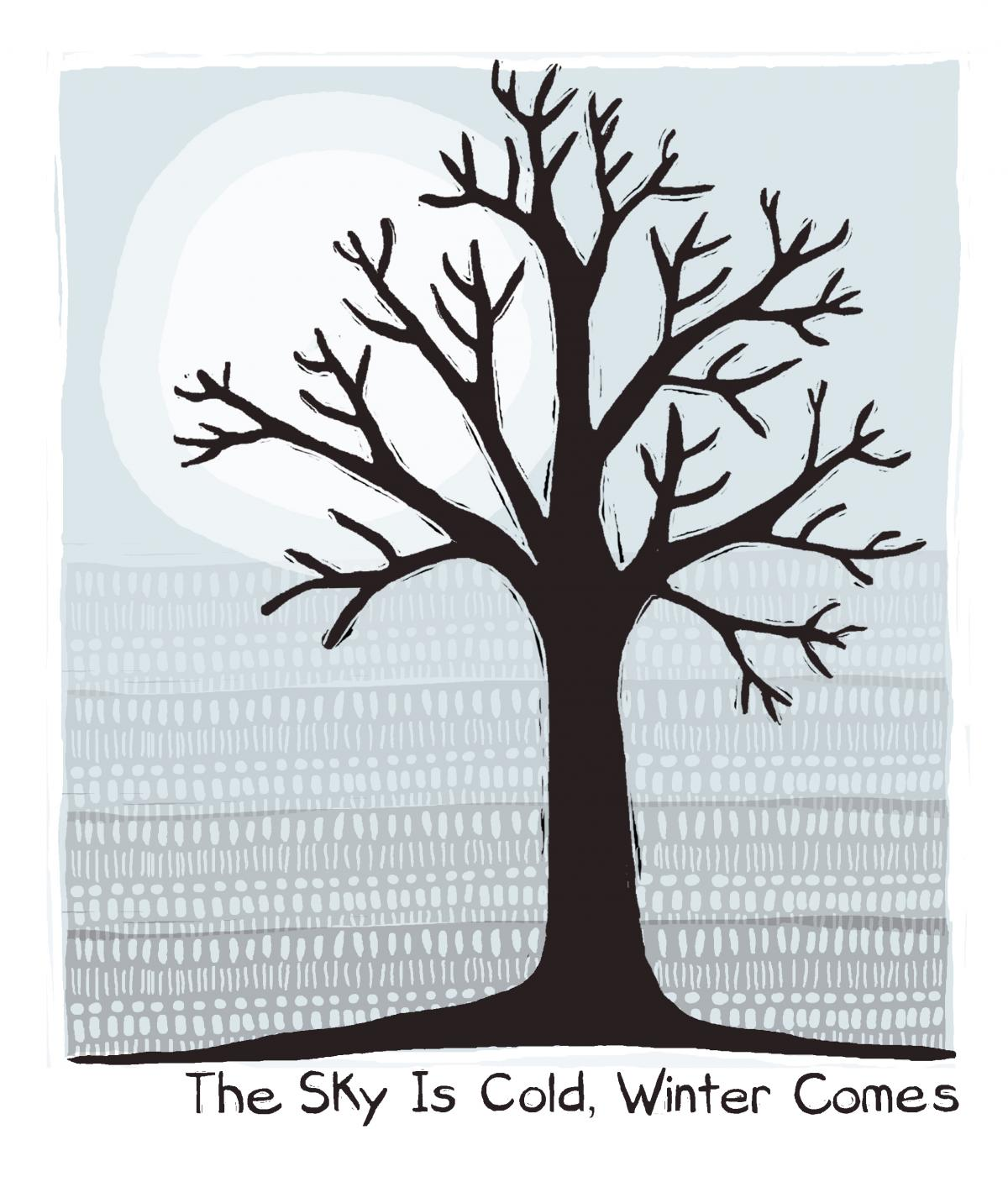 The Sky is Cold, Winter Comes - 72 Seasons Illustration