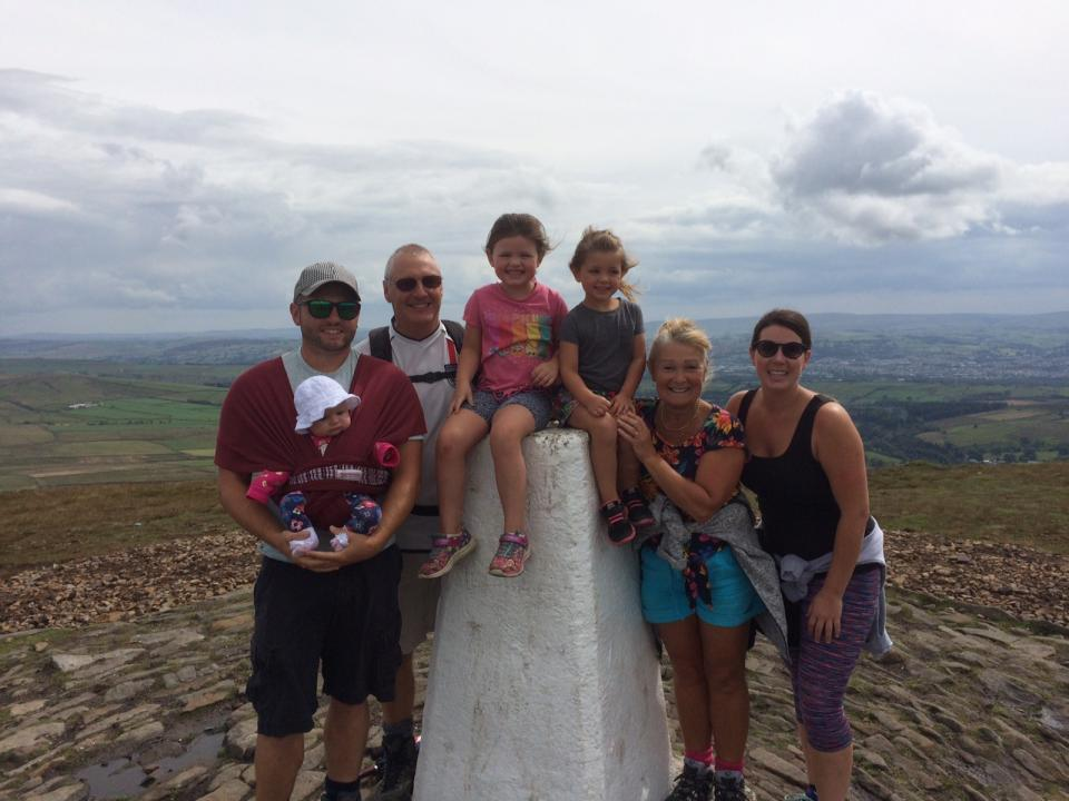 Canadian family enjoys Pendle Hill