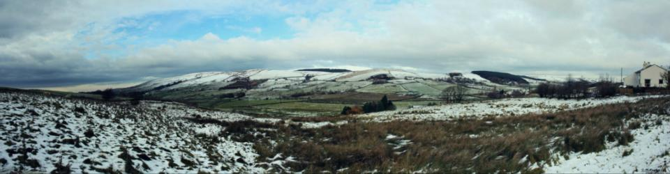 'Wintery Pendle from beyond'