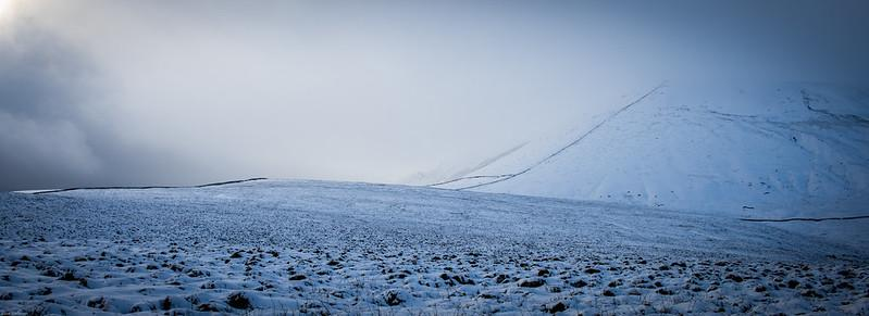 First snow on Pendle