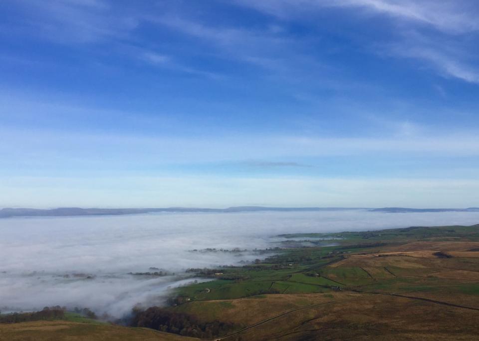 Calder & Ribble Valleys emerging from the mist