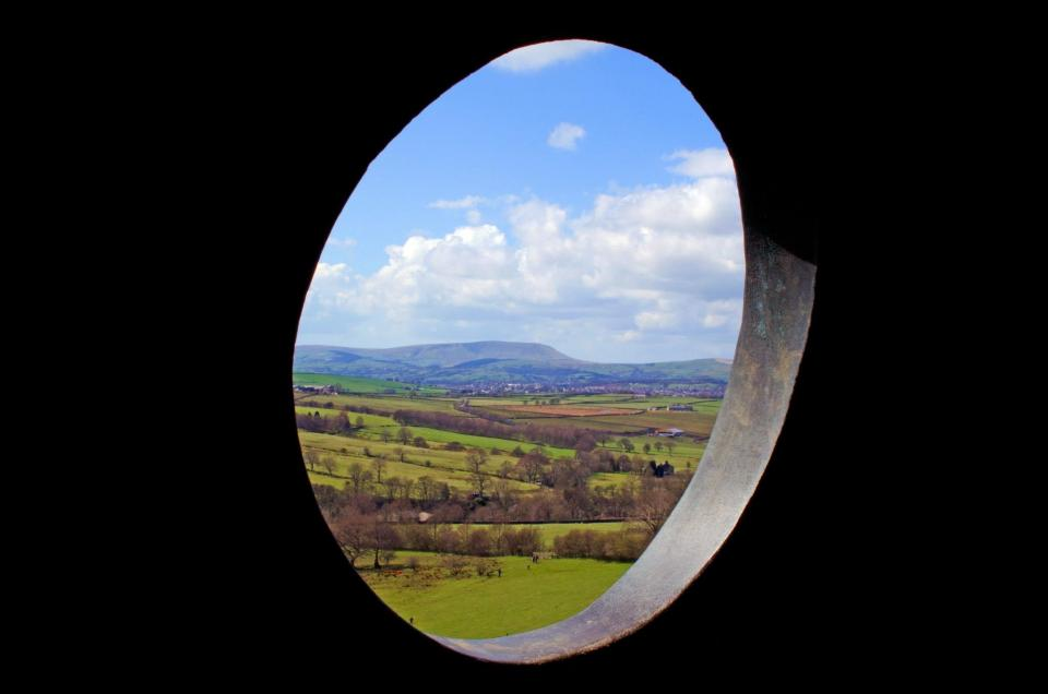 Pendle hill through the Atom