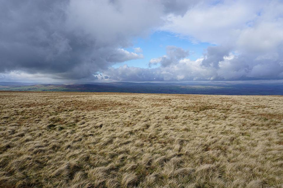Dramatic skies across to the Forest of Bowland and Ingleborough