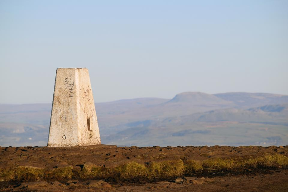 The trig and Pen-y-ghent