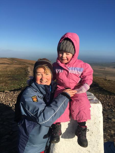 First trek up Pendle aged 3years