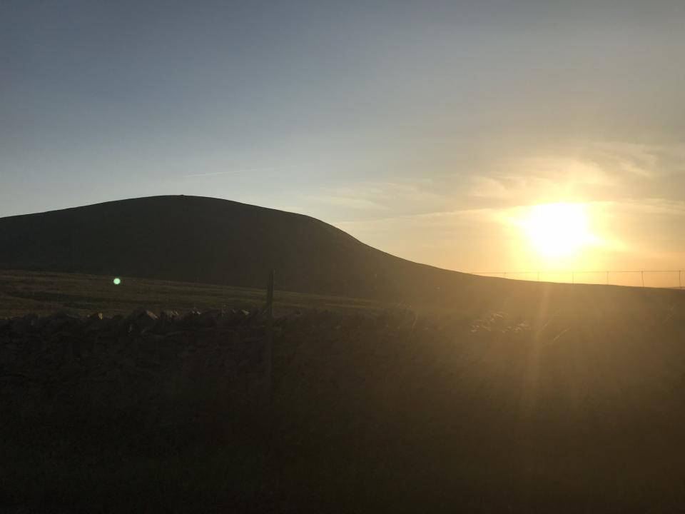 Late afternoon near Pendle