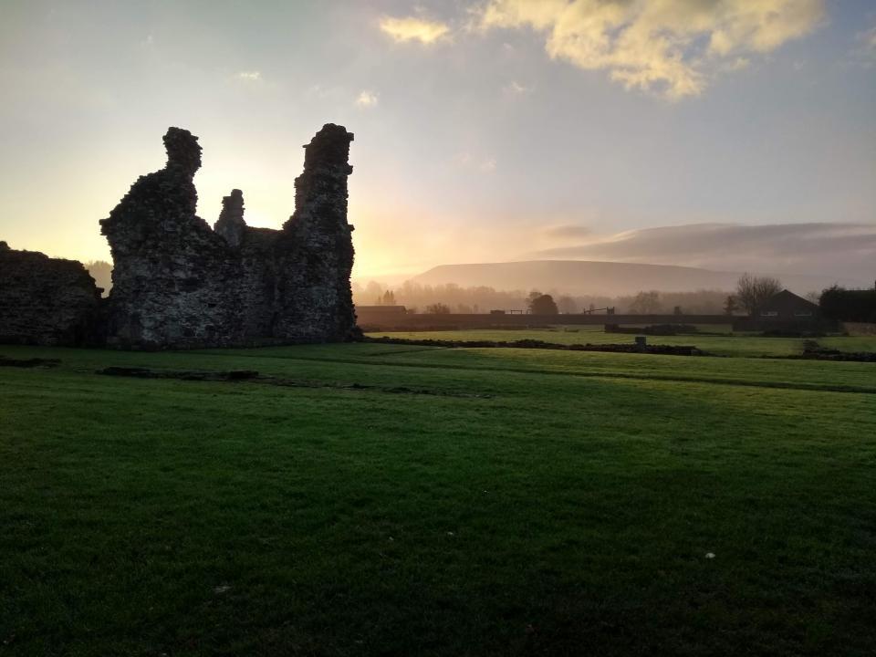 Sawley Abbey at dawn