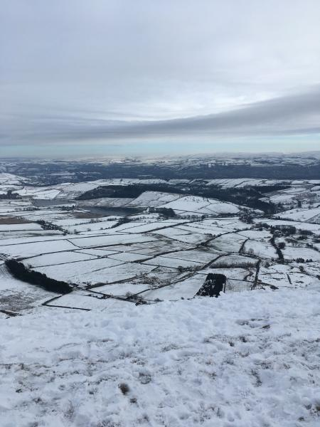 A view form the top in the snow