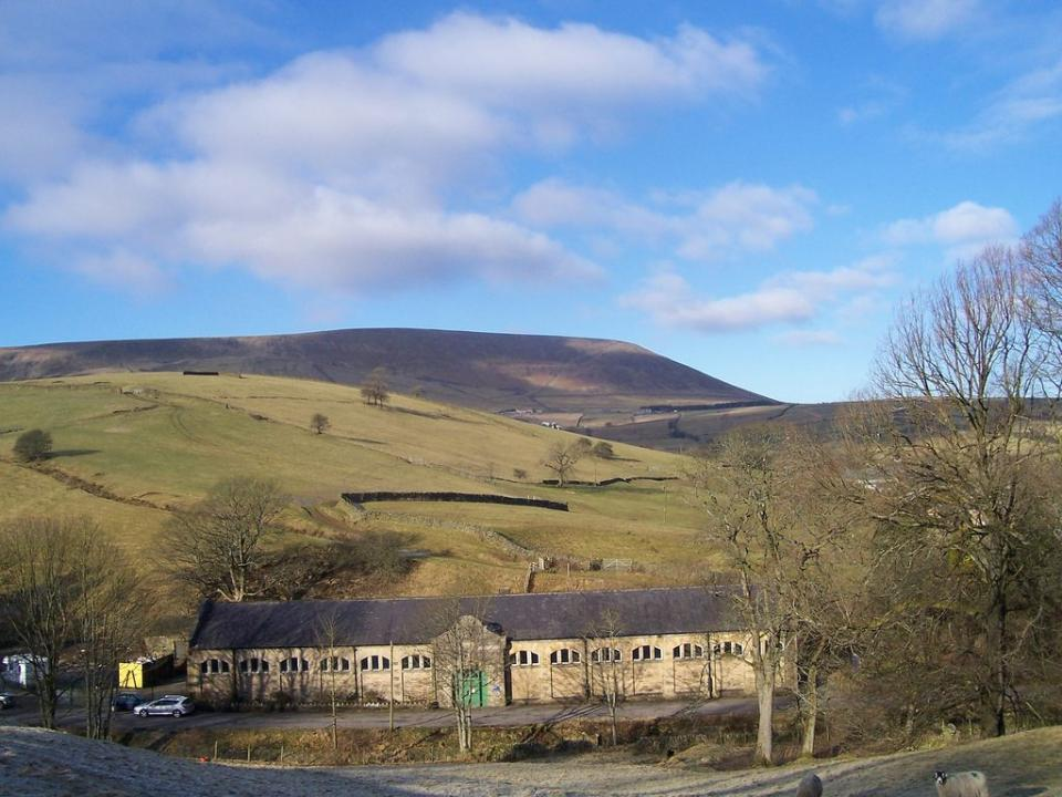Pendle Hill as seen from Cross Lane
