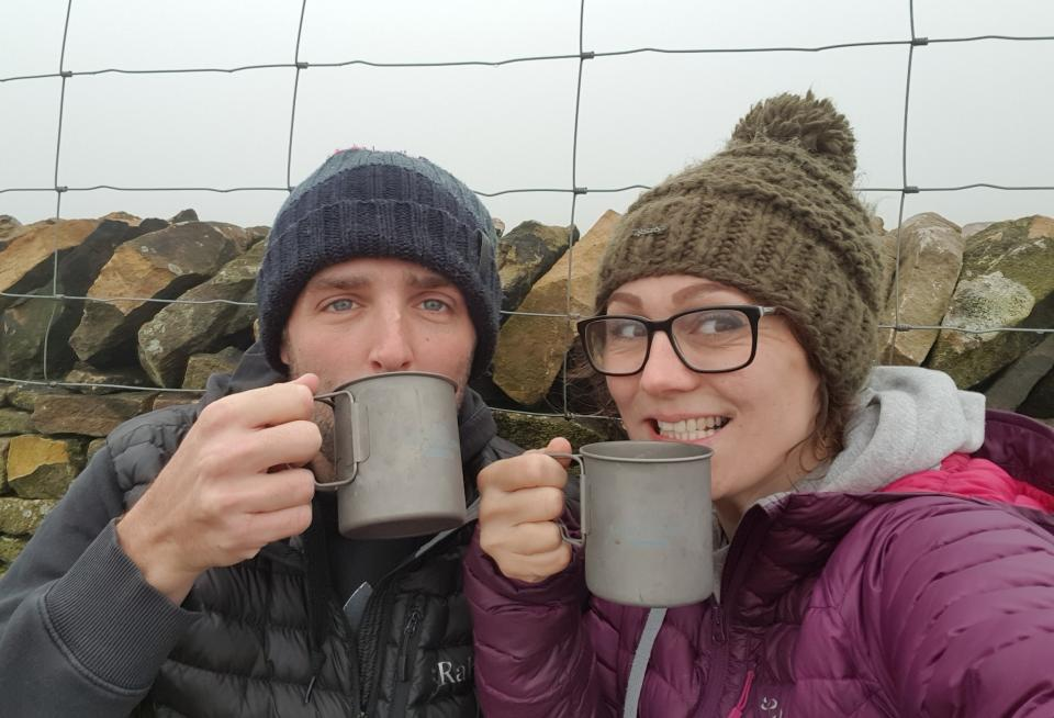 Pit stop for a brew at the new shelter!