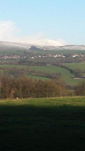 A snowy Pendle Hill