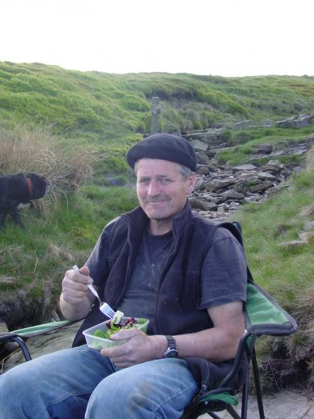 Evening picnic at Wildboar Clough
