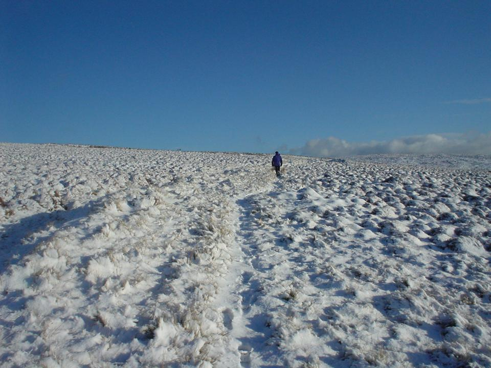 A wintry walk on Pendle
