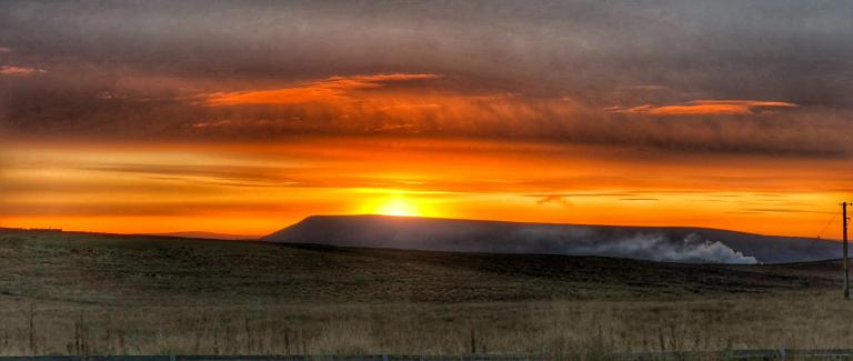 Pendle hill sunrise
