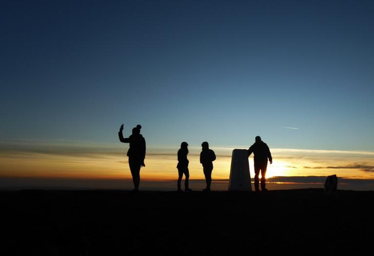 Summiters on Pendle Hill on Christmas Eve