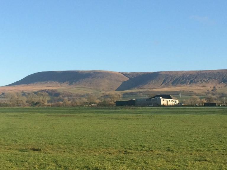 Pendle Hill on a clear Winter's day
