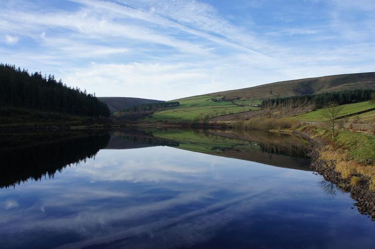 Reflections in Lower Ogden Reservoir