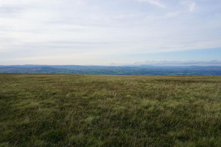 Views to Bowland and Ingleborough on a fine summer's evening