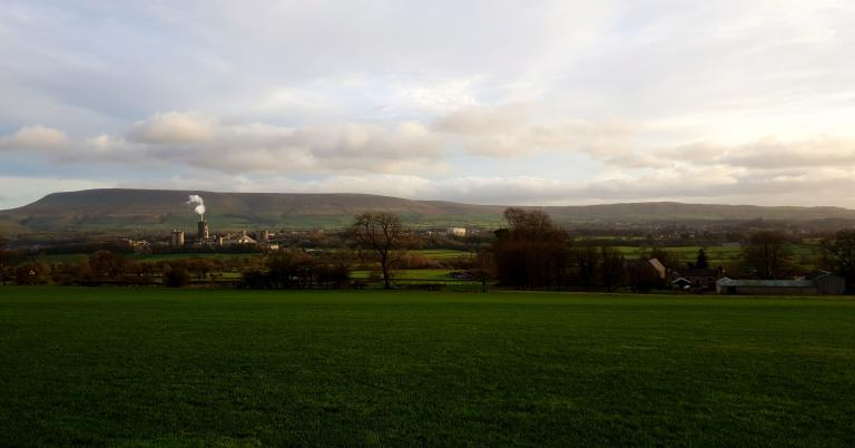 Pendle Hill from West Bradford