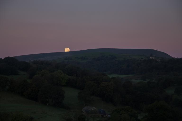Full Moon setting over Pendle
