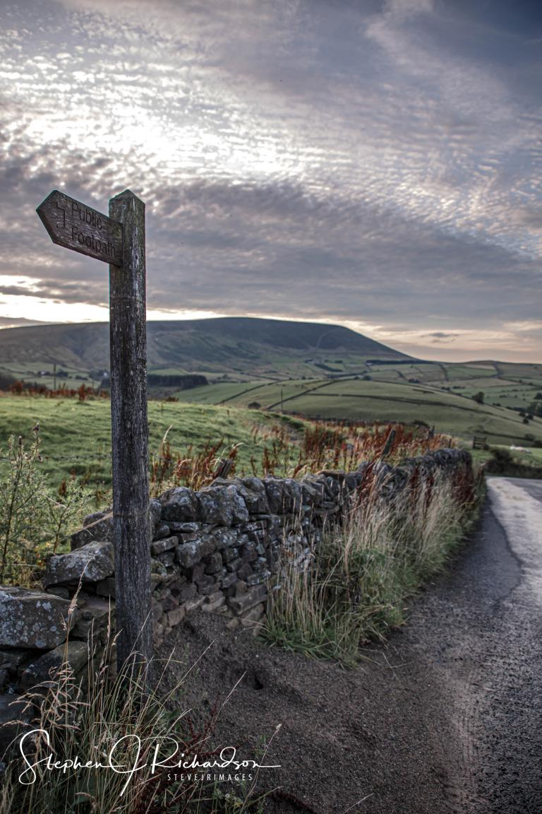 Pendle Hill from top of Newchurch