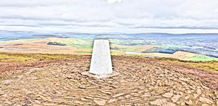 Pendle hill trig point