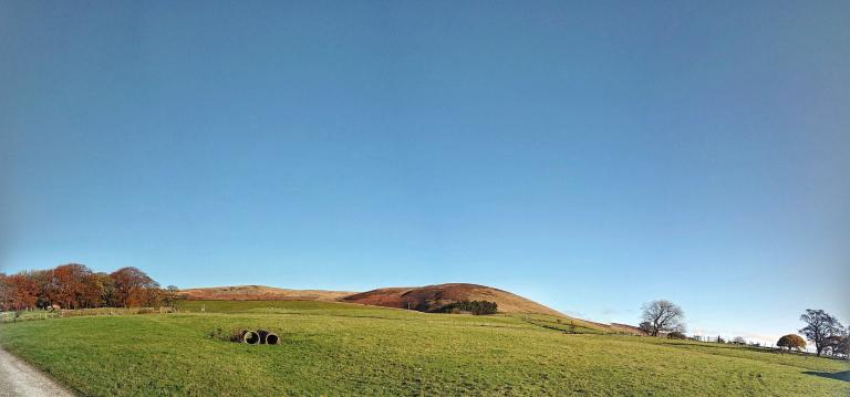 Looking up to Pendle between Sabden and Churn clough reservoir. I