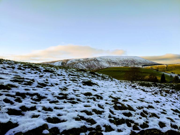Pendle and melting snow