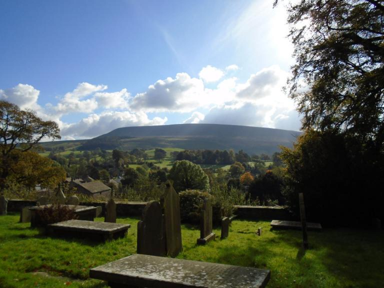 Pendle from Downham Church