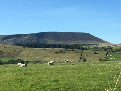 Pendle from Stang Top  © Anne Spencer