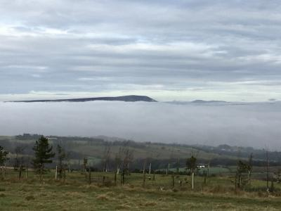 Pendle peeping out of the clouds.  © Jackie South