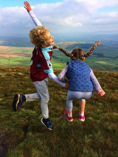 Kids enjoying Pendle  © Alex field