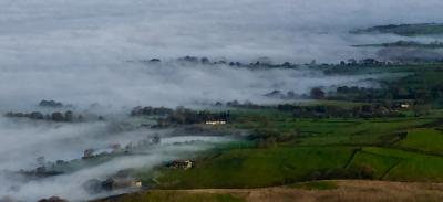 Calder & Ribble Valleys emerging from the mist © Ian