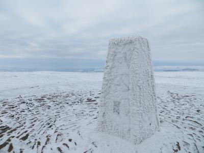 Pendle trig in deep winter mode © neil farrington