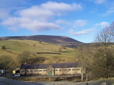 Pendle Hill as seen from Cross Lane © Mark Wild