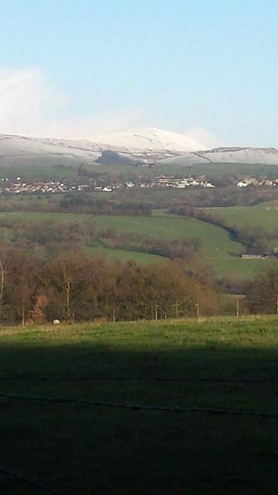A snowy Pendle Hill © Jean Eccles