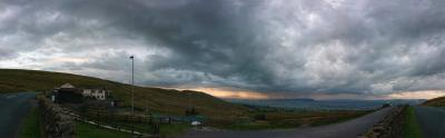 Pendle storm clouds from the ski centre panorama  © Paul A. Olivant