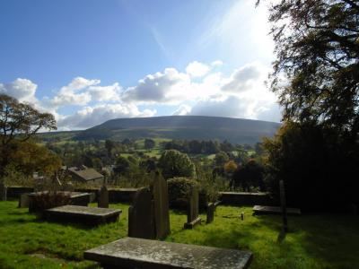 Pendle from Downham Church © Ben Robson